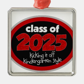 Kindergarten Class of 2025 School Kids Grade Metal Ornament