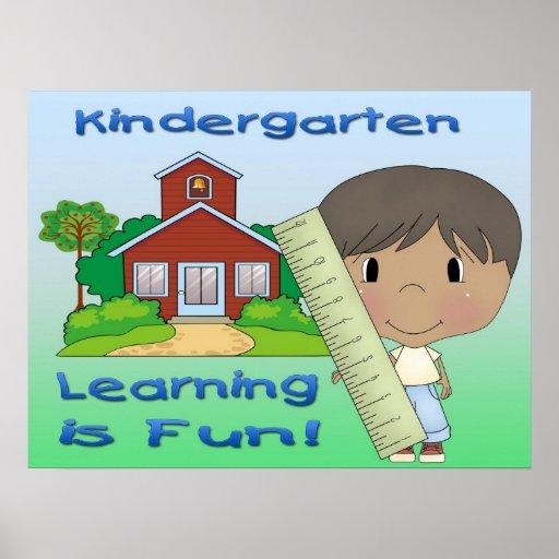 Kindergarten Ethnic Boy Learning is Fun Poster