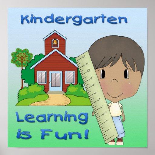 Kindergarten Ethnic Boy Learning is Fun Print