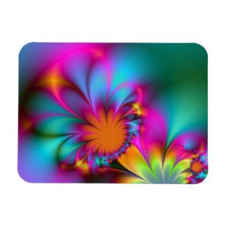 Kindergarten flower rectangular photo magnet