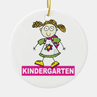 Kindergarten Girl Ceramic Ornament