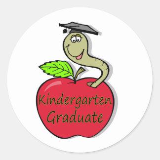 kindergarten.graduate.apple classic round sticker