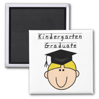 Kindergarten Graduate - Blond Boy Magnet
