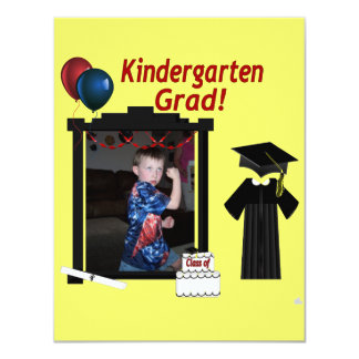 Kindergarten Graduate Invitation add Photo text