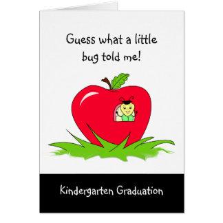 Kindergarten Graduate Red Apple Congratulations Card