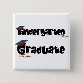 Kindergarten Graduate Tshirts and Gifts 15 Cm Square Badge