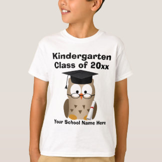 Kindergarten Graduation Custom Wise Owl Kids T-Shirt