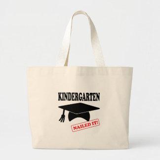 Kindergarten Nailed It Large Tote Bag