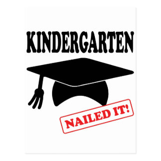 Kindergarten Nailed It Postcard