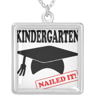 Kindergarten Nailed It Silver Plated Necklace