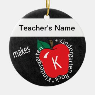 Kindergarten Rocks   School Teacher   Chalkboard Ceramic Ornament