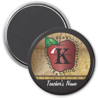 Kindergarten Rocks Vintage Style | Teacher 7.5 Cm Round Magnet