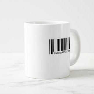 Kindergarten Teacher Barcode Large Coffee Mug