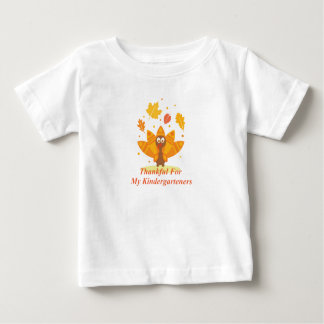 Kindergarten Teacher Funny Thanksgiving Turkey Baby T-Shirt