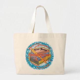 Kindergarten Teacher Motto custom name Tote Bag
