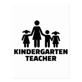 Kindergarten teacher postcard