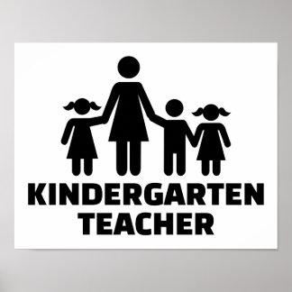 Kindergarten teacher poster