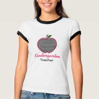 Kindergarten Teacher Shirt - Houndstooth Apple