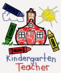 Kindergarten Teacher T Shirt- Schoolhouse & Crayon T-Shirt