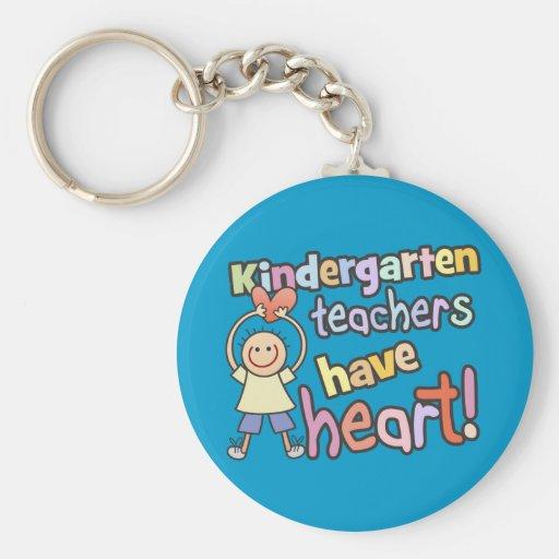 Kindergarten Teachers Have Heart Keychain