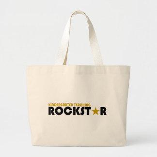 Kindergarten Teaching Rockstar Jumbo Tote Bag