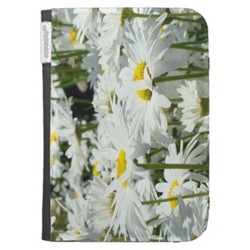 Kindle Floral cases Holiday White Daisy Flowers Kindle Cover