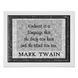 Kindness a language poster