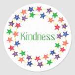Kindness, Affirmation stickers with colourful star