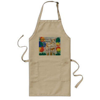 Kindness and Compassion, give joy, plant based Long Apron
