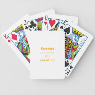 Kindness Bicycle Playing Cards