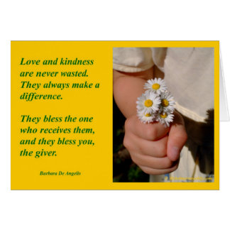 """Kindness Blesses"" Greeting Cards"