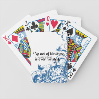 kindness butterfly swirl bicycle playing cards