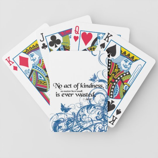 kindness butterfly swirl poker deck