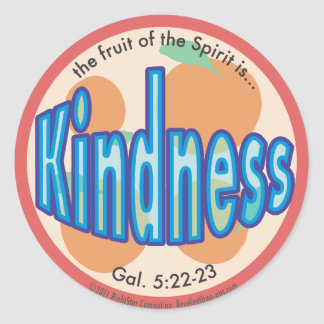 Kindness Fruit of the Spirit Spots Sticker