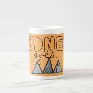 """Kindness Goes Far"" Motivational Tea Cup"