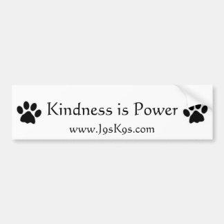 Kindness is power Bumper Sticker