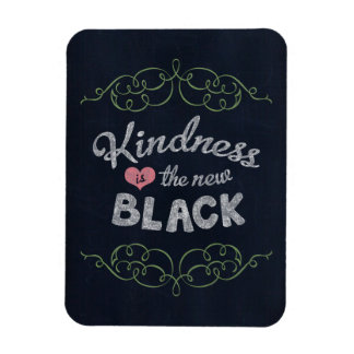Kindness is the New Black Inspirational Rectangular Photo Magnet