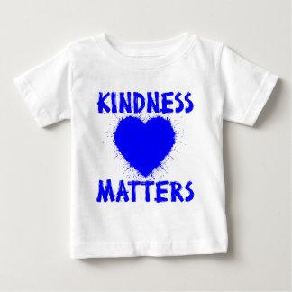 KINDNESS MATTERS, blue Baby T-Shirt