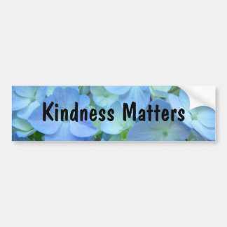 Kindness Matters bumper stickers Blue Floral