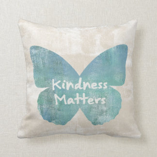 Kindness Matters Butterfly Cushion