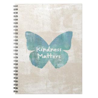 Kindness Matters Butterfly Notebooks