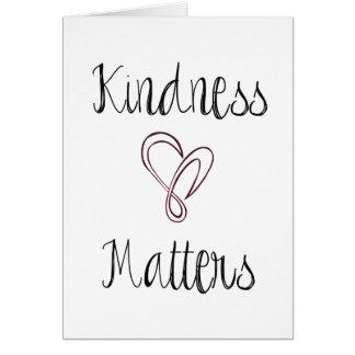 Kindness Matters Heart Card