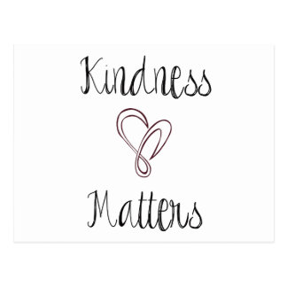 Kindness Matters Heart Postcard