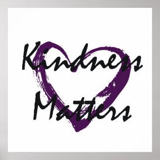Kindness Matters Heart Poster