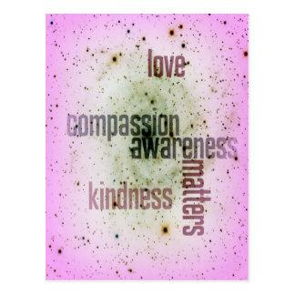 Kindness Matters Universal Love Postcard