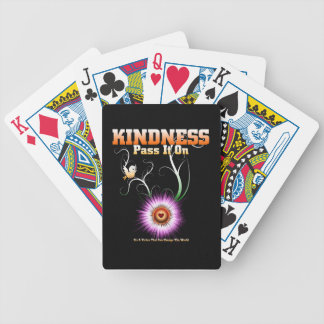 KINDNESS - Pass It On Starburst Heart Bicycle Playing Cards