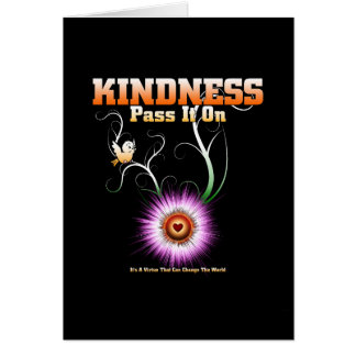 KINDNESS - Pass It On Starburst Heart Card