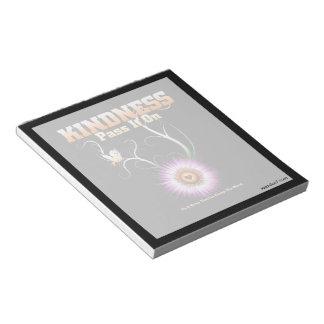 KINDNESS - Pass It On Starburst Heart Notepad