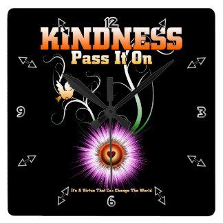 KINDNESS - Pass It On Wall Clock