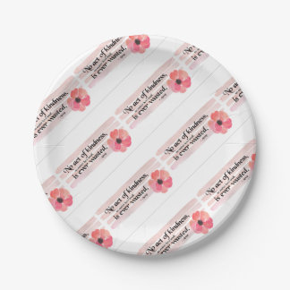 Kindness Pink Paper Plate